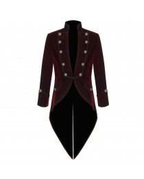 Men Steampunk Victorian VTG Velvet Tailcoat     2020