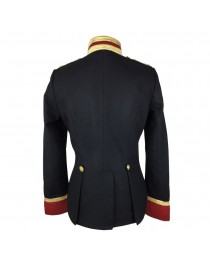 Women Gothic Military Style Wool Jacket Double Breasted Army Officer Band Coat Trench Jacket Slim Fit