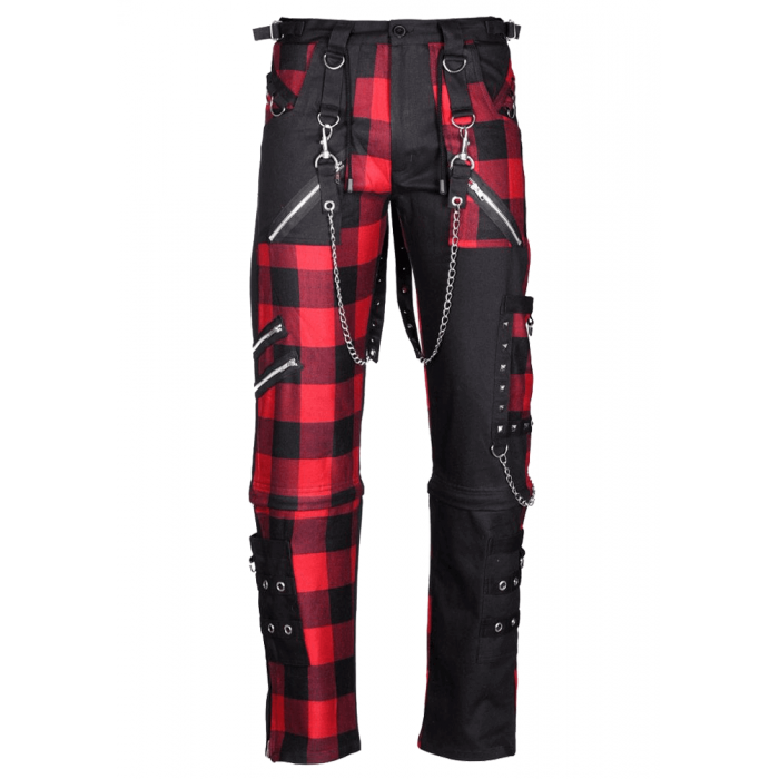 Dead Threads Mens Damned Checked Pant Men Gothic Pant