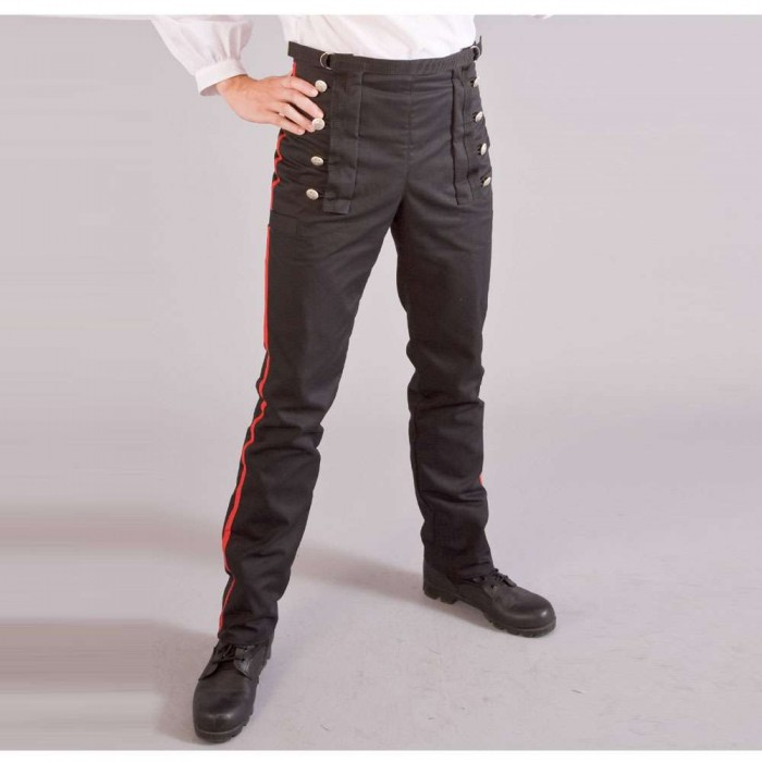 Military Officer Style Mens Trousers With Red Stripe