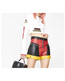 Women Biker Tailgate Moto Short For Women Gothic Skirt Current Mood