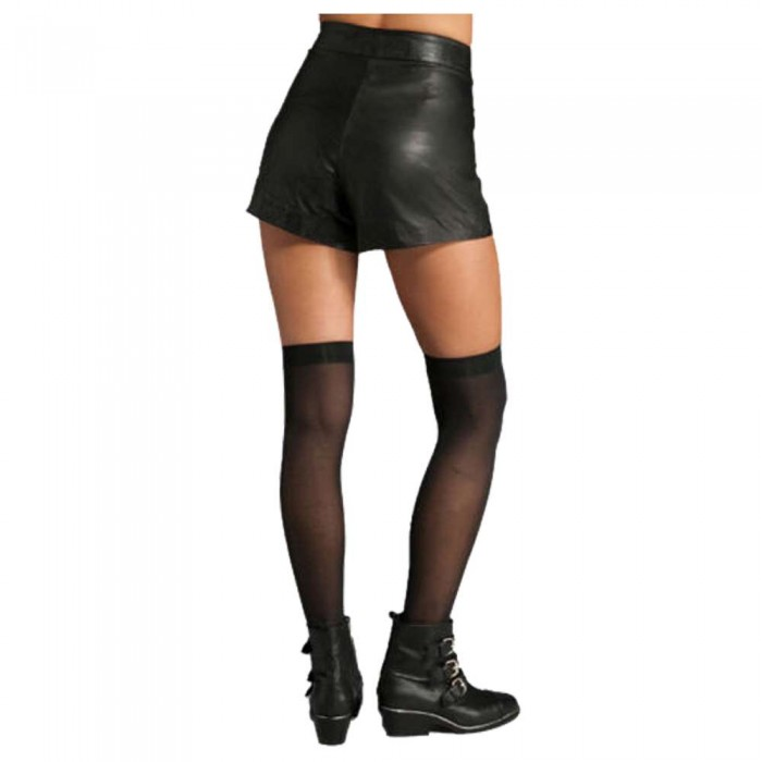 Womens Fashion Real Lambskin Leather Formal Shorts Ladies Gym Sports Hot Sexy Pants