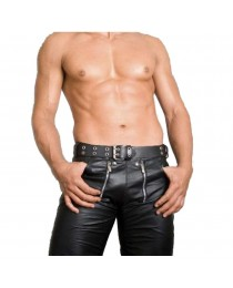 New Men Leather Motorcycle Pant