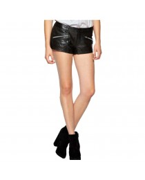 Wome Genuine Leather Short New fashion Ladies Hot Pants Skirt