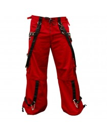 Men Gothic Red Trouser Cyber Shorts Pant For Sale