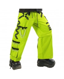 Men Gothic Parrot Green Threads Trouser Cyber Punk Pant Trouser For Sale