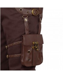 Men Gothic Pant Steampunk Dystonia Brown Trouser For Sale
