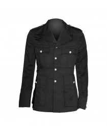 Men Black Military Officer Coat Army Style Jacket     2020