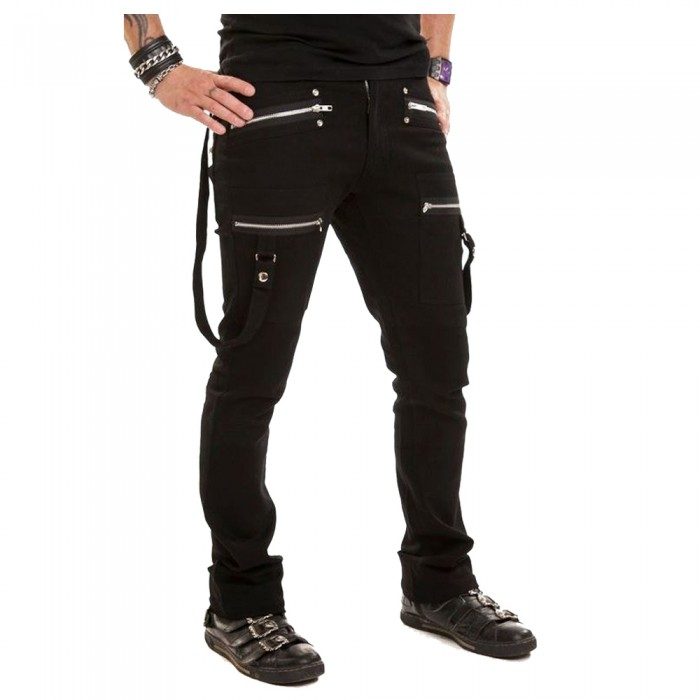 Men Long Pant with Strap and Zips