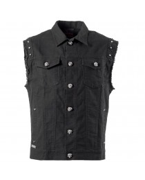 Men Rock Vest With Metal Buttons and Studs