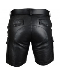 Mens Cargo ShortsReal Leather Club Casual Short