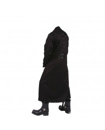 Men Black Gothic D Rings Long Coat     2020