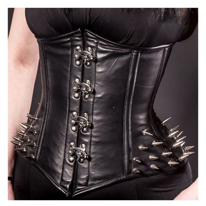 Women Gothic Corset Metal Clasp Corset Spiked Hip Sale