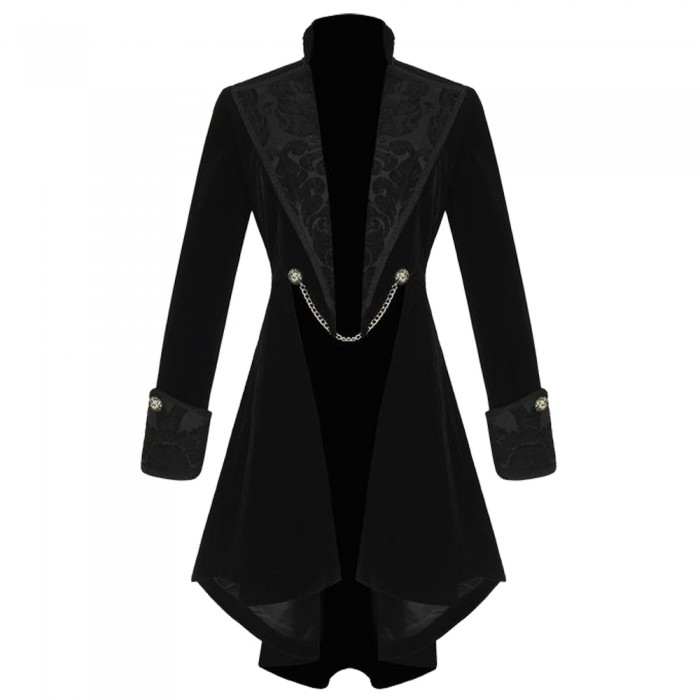 Women Gothic Pentagram Velvet Coat