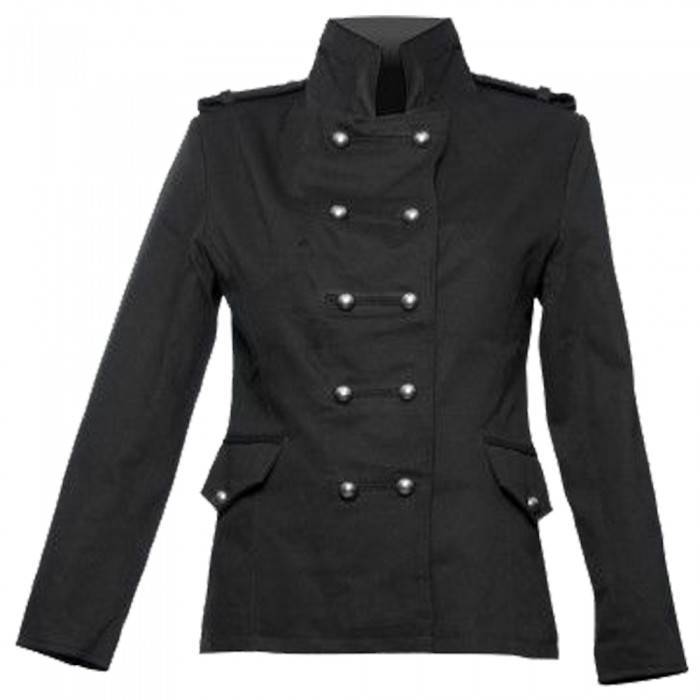 Gothic Coat for Women Goth Steam Punk Black Long Sleeve Thick Swallowtail Coat