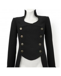 Women Gothic Coat Victorian Tail Coat Men's Steampunk Tailcoat Jacket Gothic Clothing