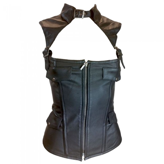 Women Collar Leather Corset     2020
