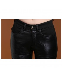 Women Gothic Genuine Sheepskin Stylish Shiny Pant