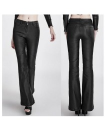 Women Gothic Vintage Retro Rockabilly Pant Steampunk Leather Sexy Zip Pant
