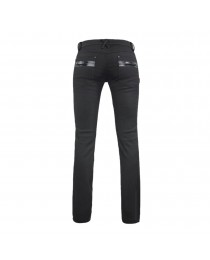 Women Goth Long Pants With Zippers Black Punk Rock Decorated Pants