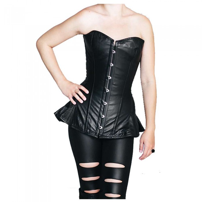 Women Exclusive long leather corset with frill Women Corset