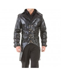 Post Apocalyptic Steampunk Jacket Gothic Costume Mens Trench Coat