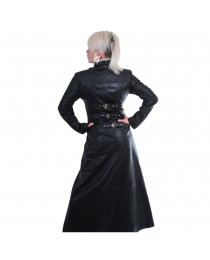 Women Gothic Steampunk Gothic Stylish Long Trench Long Tailor Color Coat