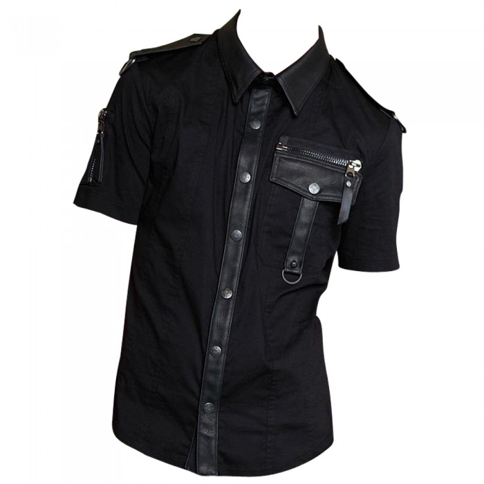 Gothic Dead Nation Security Black Goth Clearance Shirt