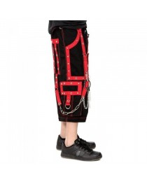 Men Gothic Steampunk Bondage Trouser Cyber Punk Shorts