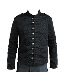 Mens Army Jacket Military Steampunk Parade Jacket