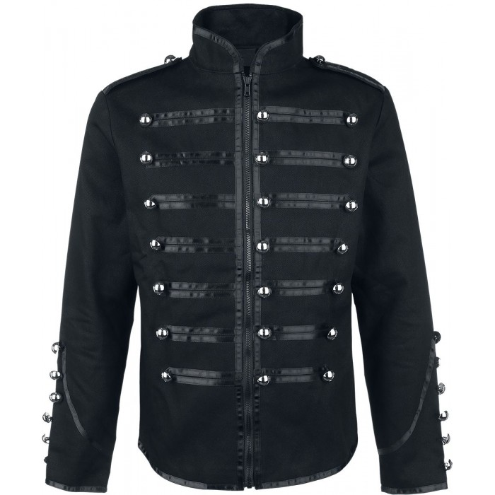 Men EMO Parade Marching Band Drummer Jacket Military Style