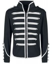 Men Gothic Military Parade Marching Jacket Steampunk EMO Army Band Drummer Jacket     2020