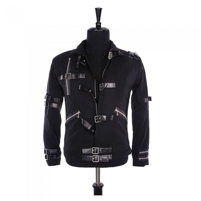 Mens Michael Jackson Fashion Jackets Punk Bad Black Gothic Fashion Jacket     2021