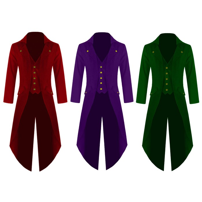 Steampunk Tailcoat Multi Color Victorian Jacket
