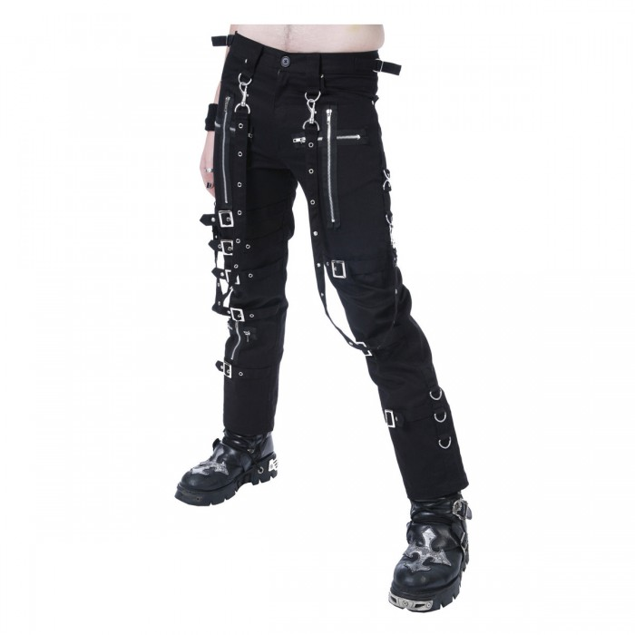Dead Threads Goth Black Buckles Chains Straps Pant Trousers Goth Punk Cyber Pants