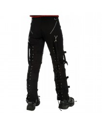 Dead Threads Goth Punk Cyber Black Buckle Zips Straps Trousers Pants