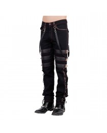 Men Gothic Trousers Pants Steampunk Vintage Cotton Gens Harem Pants