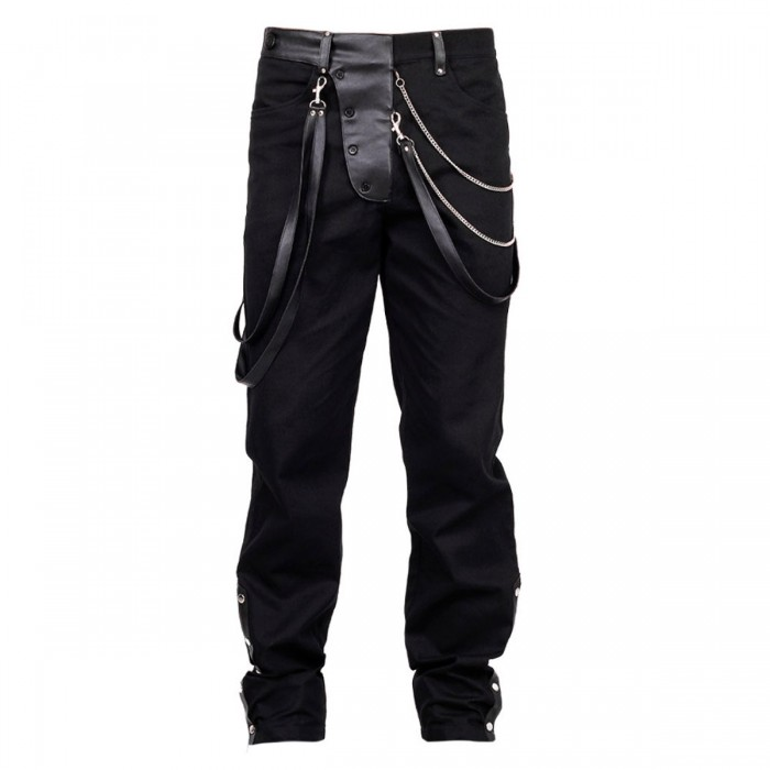 Steampunk Vintage Gens Trousers Men Pants Gothic Wedding Party Trousers
