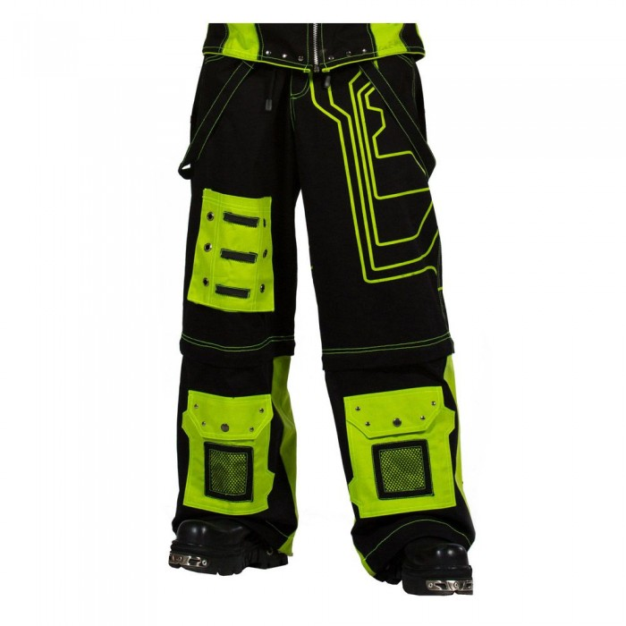 Dead Threads Black Yellow Fear Pants Black Baggy Cyber Rave Style Trousers Pant